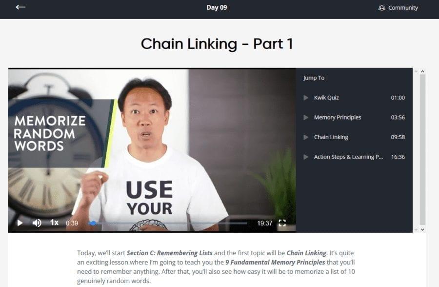 Day 9 Of Superbrain Quest: Jim Kwik Teaches Chain Linking