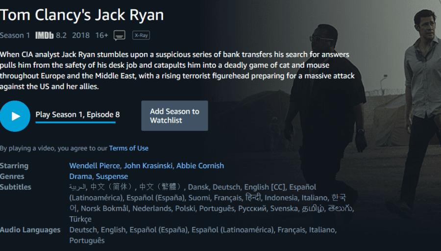 Prime Video Jack Ryan