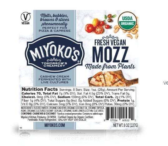 vegan mozzerella Miyoko