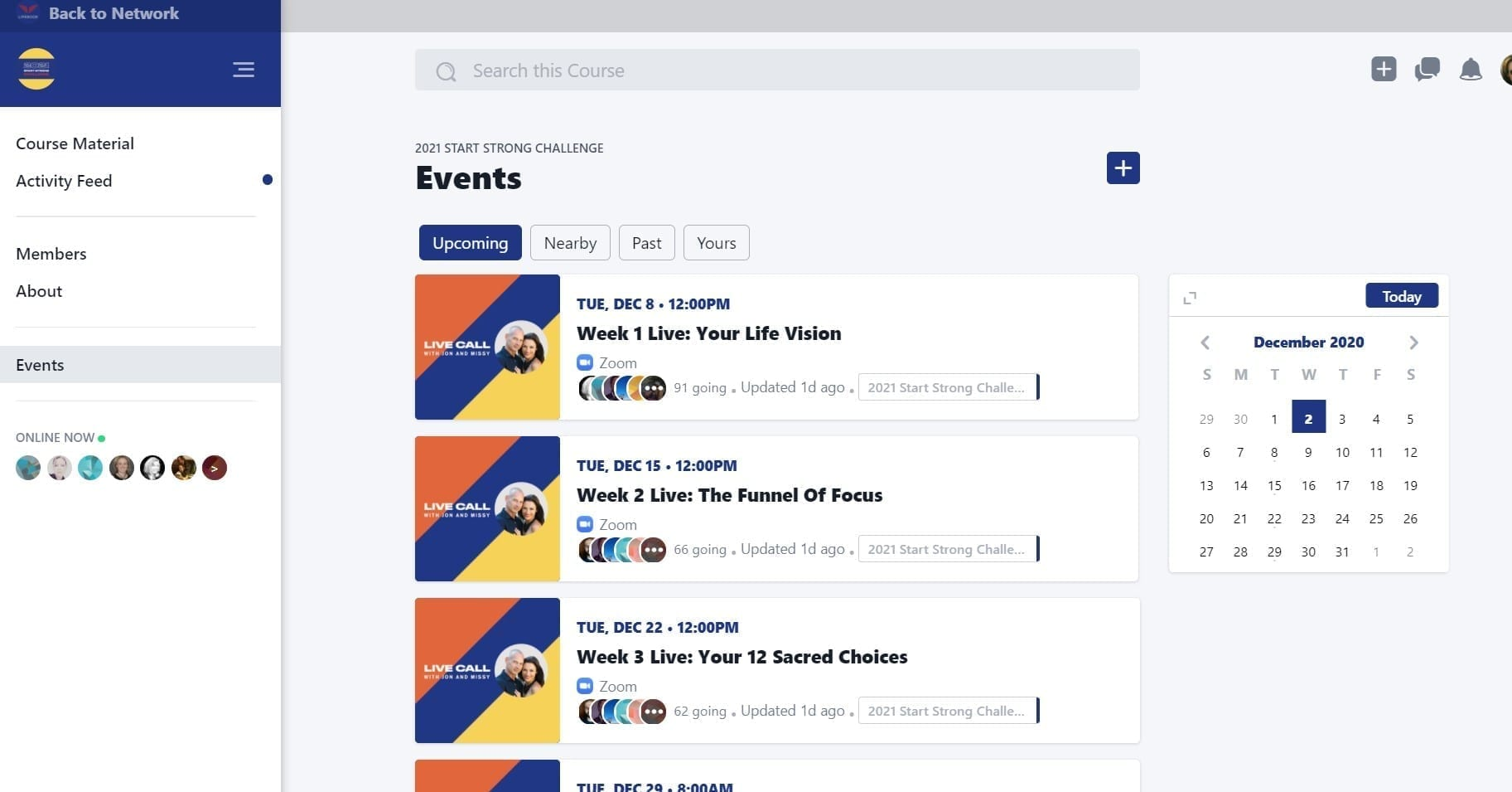 events Lifebook App