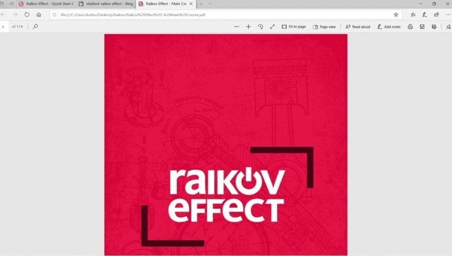 screenshot of Raikov Effect PDF