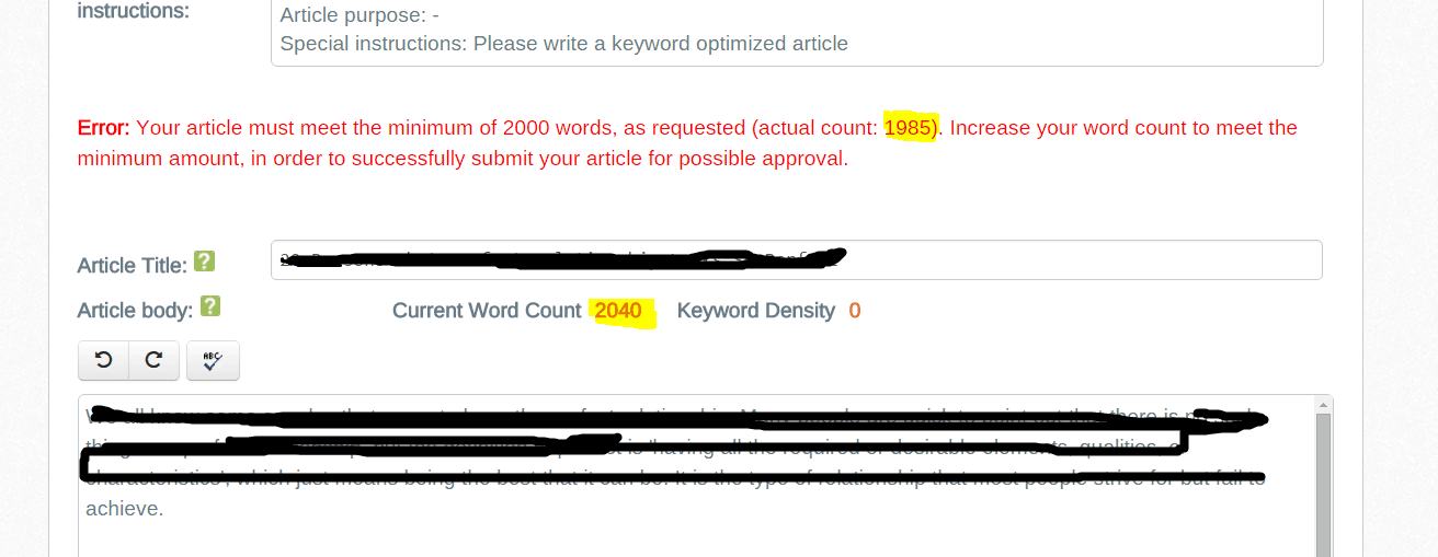 word inconsistency iwriter