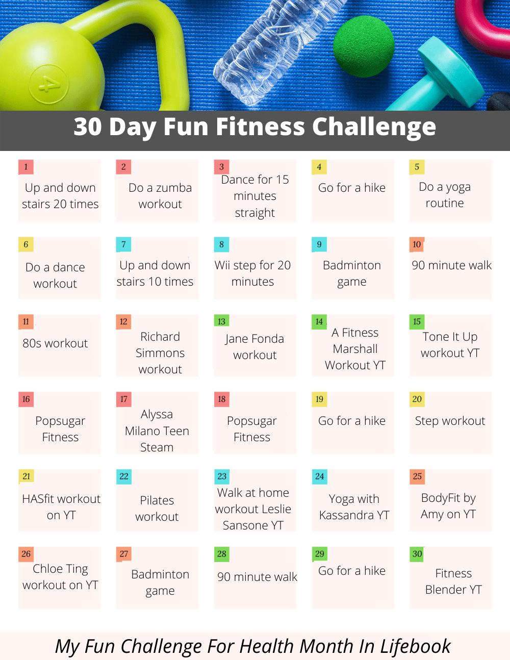 fun fitness challenge